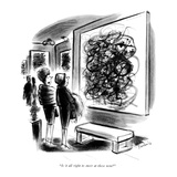 """""""Is it all right to sneer at these now?"""" - New Yorker Cartoon Premium Giclee Print by Jr., Whitney Darrow"""