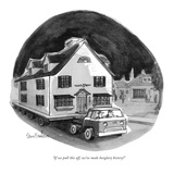 """If we pull this off, we've made burglary history!"" - New Yorker Cartoon Premium Giclee Print by Dana Fradon"