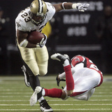 Saints Falcons Football: Atlanta, GA - Pierre Thomas Print by Dave Martin