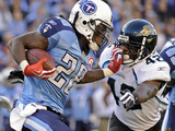 Jaguars Titans Football: Nashville, TN - Chris Johnson Photographic Print by John Russell