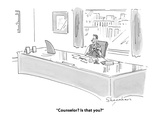 """Counselor? Is that you?"" - Cartoon Premium Giclee Print by Danny Shanahan"