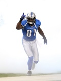 Vikings Lions Football: Detroit, MI - Calvin Johnson Photographic Print by Carlos Osorio