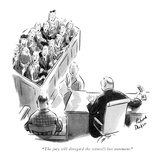 """The jury will disregard the witness's last statement."" - New Yorker Cartoon Premium Giclee Print by Richard Decker"