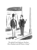 """""""I'm afraid I can't help you. I'm from New Zealand, and all I know is shee…"""" - New Yorker Cartoon Premium Giclee Print by Warren Miller"""