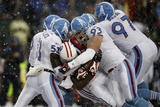 Titans Patriots Football: Foxborough, MA - Titans defense Photographic Print by Winslow Townson