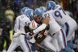 Titans Patriots Football: Foxborough, MA - Titans defense Photographic Print by Winslow Townson