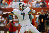 Buccaneers Dolphins Football: Miami, FL - Chad Henne Photo av Hans Deryk