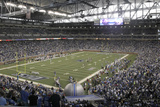 Vikings Lions Football: Detroit, MI - Ford Field Panorama Photographic Print by Paul Sancya