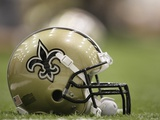 Saints Football: Metairie, LOUISIANA - New Orleans Saints Helmet Photographic Print by Alex Brandon