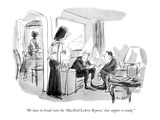"""""""We hate to break into the 'MacNeil/Lehrer Report,' but supper is ready."""" - New Yorker Cartoon Premium Giclee Print by Frank Modell"""