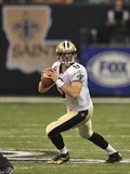 Lions Saints Football: New Orleans, LA - Drew Brees Photographic Print by Bill Feig
