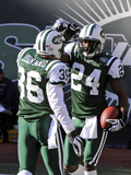 Panthers Jets Football: East Rutherford, NJ - Darrelle Revis Photographic Print by Bill Kostroun