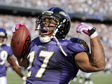 Bengals Ravens Football: Baltimore, MD - Ray Rice Photographic Print by Nick Wass