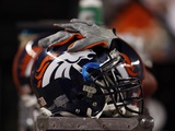 Bears Broncos Football: Denver, CO - Denver Broncos Helmet Photographic Print by Jack Dempsey