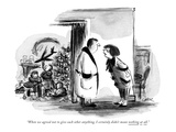 """When we agreed not to give each other anything, I certainly didn't mean n…"" - New Yorker Cartoon Premium Giclee Print by Lee Lorenz"