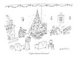 """Lights! Cameras! Christmas!"" - New Yorker Cartoon Premium Giclee Print by Michael Maslin"