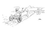 Egyptian chariot arrives at intersection with a hieroglyphic sign  indicat… - New Yorker Cartoon Premium Giclee Print by Ed Fisher