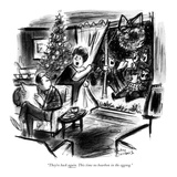 """They're back again. This time no bourbon in the eggnog."" - New Yorker Cartoon Premium Giclee Print by Jr., Whitney Darrow"