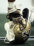 NFL Historical Imagery: New Orleans Saints Helmet Photographic Print