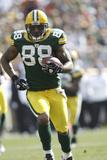 Lions Packers Football: Green Bay, WI - Jermichael Finley Fotografisk trykk av Mike Roemer