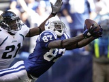 Jaguars Colts Football: Indianapolis, IN - Reggie Wayne Photo by AJ Mast