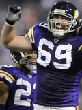 Bears Vikings Football: Minneapolis, MN - Jared Allen Photographic Print by Hannah Foslien