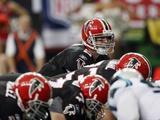 Panthers Falcons Football: Atlanta, GA - Matt Ryan Before the Snap Fotografisk trykk av John Amis