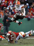 APTOPIX Browns Chiefs Football: Kansas City, MO - Josh Cribbs Print by Charlie Riedel