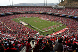 Falcons 49ers Football: San Francisco, CA - Candlestick Park Photographic Print by George Nikitin