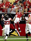 Cardinals Falcons Football: Glendale, ARIZONA - Larry Fitzgerald Photographic Print by Ross D. Franklin
