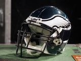 Eagles Jets Football: East Rutherford, NJ - Philadelphia Eagles Helmet Photo by Peter Morgan