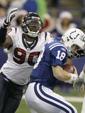 Texans Colts Football: Indianapolis, INDIANA - Mario Williams Posters av Darron Cummings
