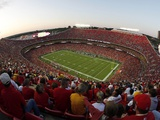 Seahawks Chiefs Football: Kansas City, MO - Arrowhead Stadium Prints by Charlie Riedel