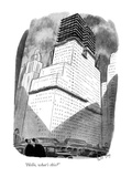 """Hello, what's this?"" - New Yorker Cartoon Premium Giclee Print by Robert J. Day"