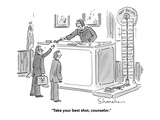 """""""Take your best shot, counselor."""" - Cartoon Premium Giclee Print by Danny Shanahan"""