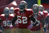 Rams 49ers Football: San Francisco, CA - Patrick Willis Fotografisk trykk av Marcio Jose Sanchez