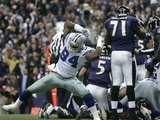 Ravens Cowboys Football: Irving, TEXAS - DeMarcus Ware Photographic Print by Tony Gutierrez