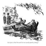 """Let's face it, Fred. You and I are not exactly apostles of change."" - New Yorker Cartoon Premium Giclee Print by James Stevenson"