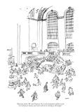 """""""Attention, please, Mr. Lyle Ferguson. As a result of equipment failure at…"""" - New Yorker Cartoon Premium Giclee Print by George Booth"""