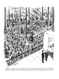 """""""Anderson, my boy, if you truly believe that commercialism should be taken…"""" - New Yorker Cartoon Premium Giclee Print by James Stevenson"""