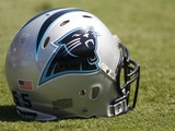 Eagles Panthers Football: Charlotte, NC - Carolina Panthers helmet Photographic Print by Nell Redmond