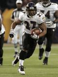 Ravens Vikings Football: Minneapolis, MN - Ray Rice Photographic Print by Paul Battaglia
