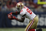 49ers Rams Football: St. Louis, MO - Vernon Davis Photographic Print by Jeff Roberson