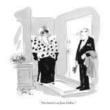 """You loved it on Joan Collins."" - New Yorker Cartoon Premium Giclee Print by Edward Frascino"