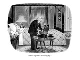"""Pshaw! I grabbed the wrong bag."" - New Yorker Cartoon Premium Giclee Print by Richard Taylor"