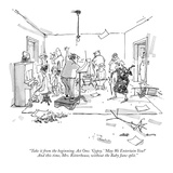 """Take it from the beginning. Act One. 'Gypsy.' 'May We Entertain You?' And…"" - New Yorker Cartoon Premium Giclee Print by George Booth"