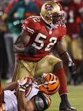 Bengals 49ers Football: San Francisco, CA - Patrick Willis Photographic Print