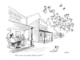 """Here come the goddam summer people!"" - New Yorker Cartoon Premium Giclee Print by Al Ross"