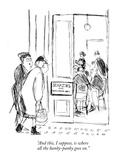 """And this, I suppose, is where all the hanky-panky goes on."" - New Yorker Cartoon Premium Giclee Print by James Stevenson"