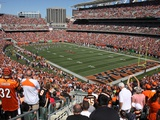 Broncos Bengals Football: Cincinnati, OH - Paul Brown Stadium Fotografisk trykk av Tom Uhlman